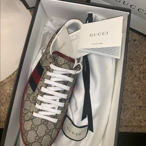 Gucci ace gg print sneakers